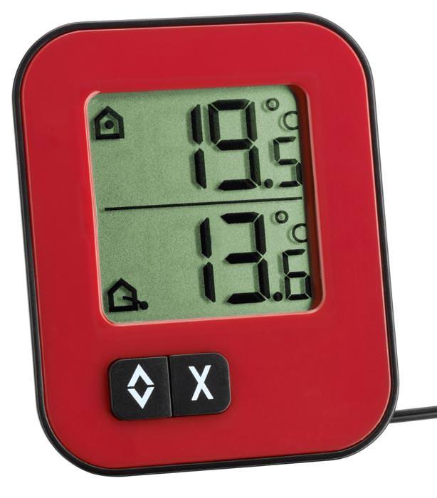 min max thermometer k hlschrankthermometer 40 70 kabelsonde tfa. Black Bedroom Furniture Sets. Home Design Ideas
