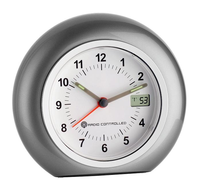 radio alarm clock tfa roma analog alarm clock radio controlled dcf 77. Black Bedroom Furniture Sets. Home Design Ideas