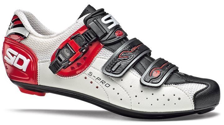 fahrradschuhe rennrad sidi genius 5 pro weiss rot s rennradschuhe radsportschuhe ebay. Black Bedroom Furniture Sets. Home Design Ideas
