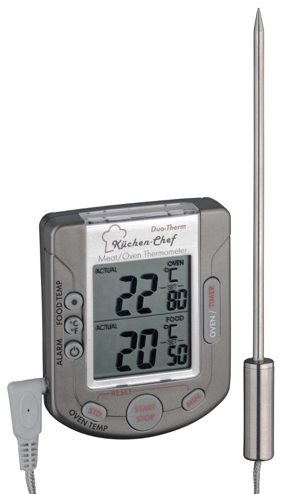 k chen chef tfa einstichthermometer braten ofenthermometer 0 300 grad ebay. Black Bedroom Furniture Sets. Home Design Ideas