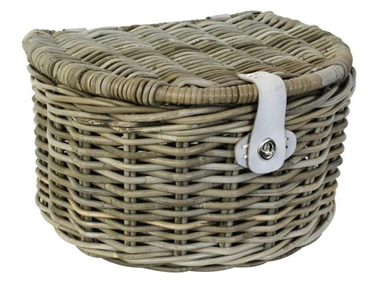 fastrider fahrradkorb rattankorb halbrund deckel weidenkorb picknick shopping. Black Bedroom Furniture Sets. Home Design Ideas