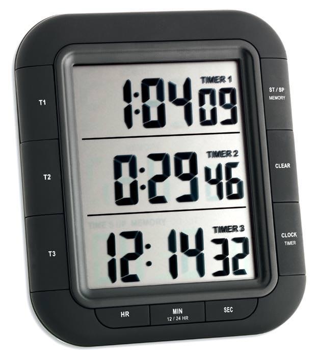 3 fach timer cronometro tfa triplo xl timer da cucina funzione memoria ebay - Timer da cucina ...