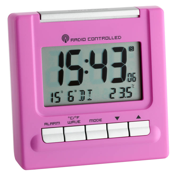radio alarm travel clock bergamo wetterladen 2 3 colors to choose ebay. Black Bedroom Furniture Sets. Home Design Ideas