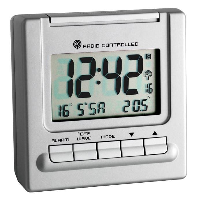 radio alarm bergamo tfa travel clock 2 wake up times controlled ebay. Black Bedroom Furniture Sets. Home Design Ideas