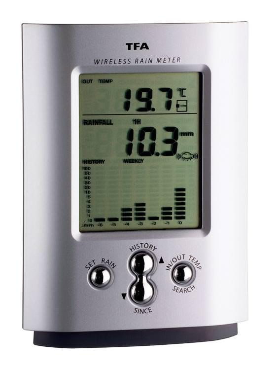 Monsoon Power Monitor : Rainfall recorder wireless rain gauge monsoon tfa