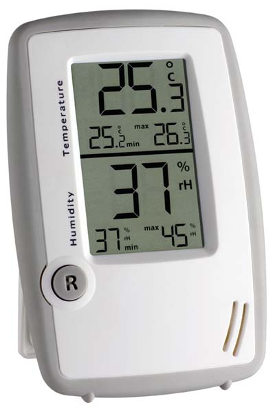 thermometer hygrometer tfa 2 min max speicher ebay. Black Bedroom Furniture Sets. Home Design Ideas