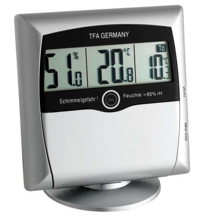 Hygrometer Comfort Control silber