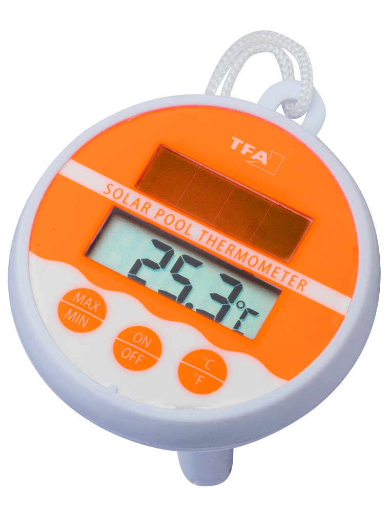 Schwimmbad thermometer tfa solar pool thermometer for Schwimmbadthermometer