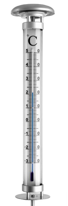 Thermom tre solaire de jardin solino tfa clair - Grand thermometre de jardin ...