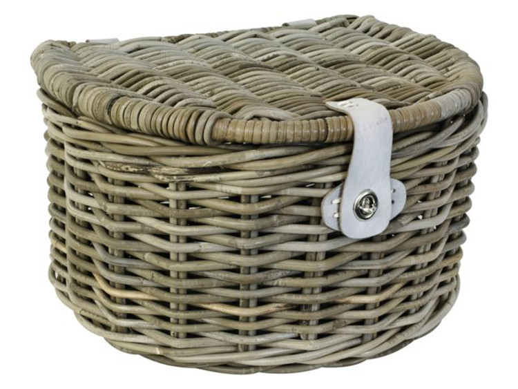 fastrider fahrradkorb rattankorb halbrund deckel. Black Bedroom Furniture Sets. Home Design Ideas