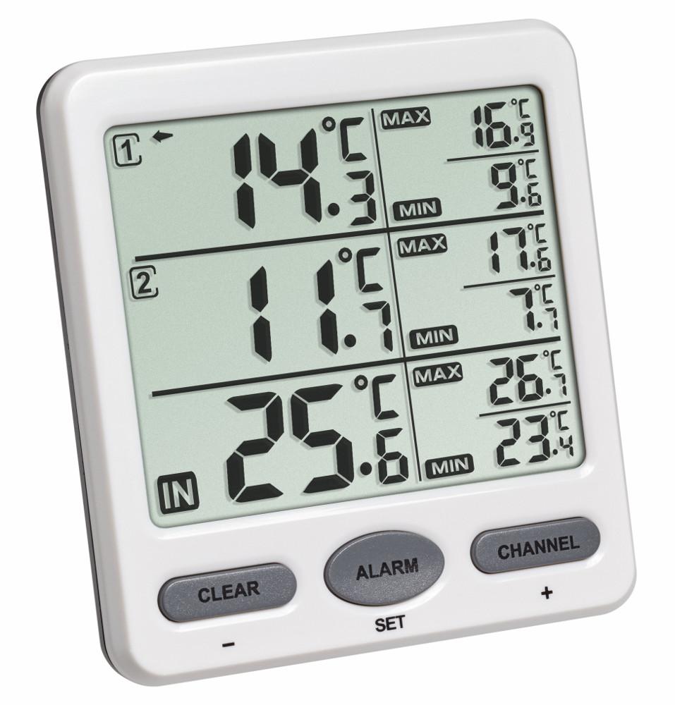 funk thermometer trio tfa temperatur berwachung funkthermometer sensoren ebay. Black Bedroom Furniture Sets. Home Design Ideas
