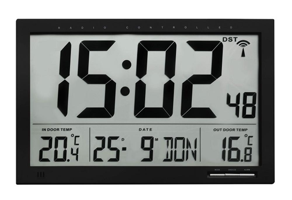 Horloge de mur contrôlé radio etna tfa 60.4510.01 bureau salle d