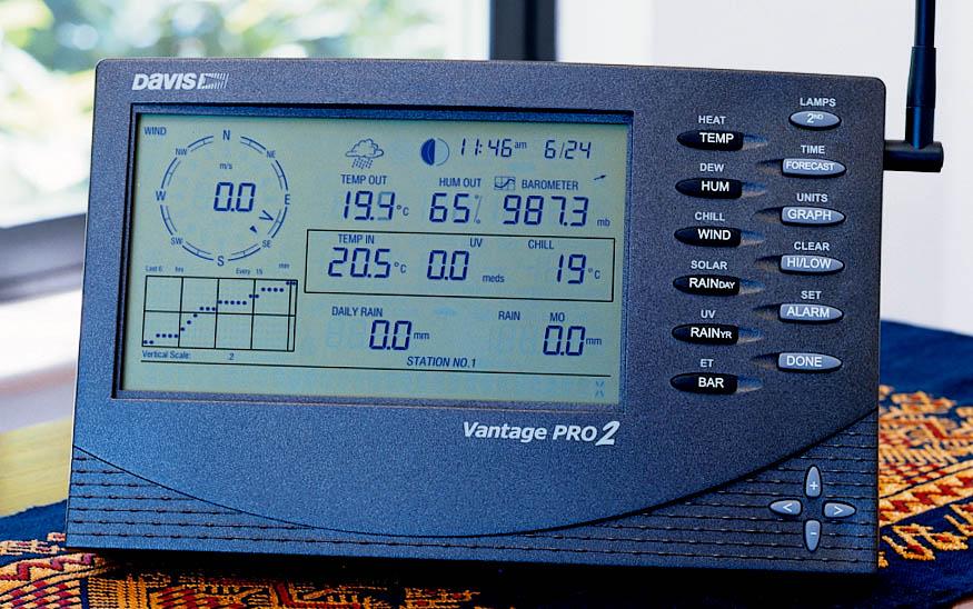 WETTERSTATION DAVIS VANTAGE PRO 2 6152EU PROFI-WETTERCENTER SOLAR 300 METER FUNK